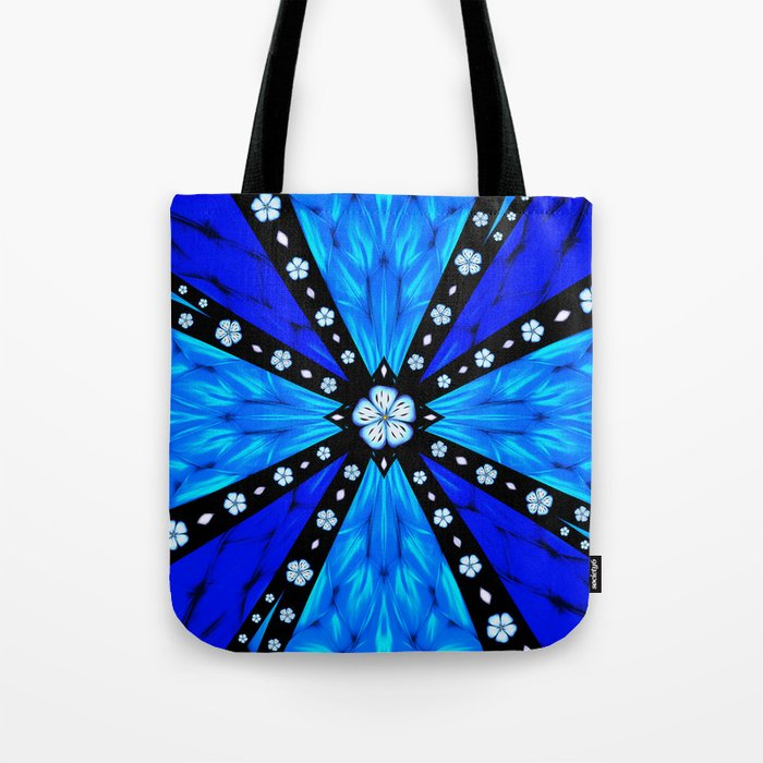 Onyx Beams of Flowers and Gems Tote Bag