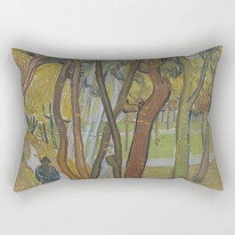 The Garden of Saint Paul's Hospital ('Leaf-Fall') Rectangular Pillow