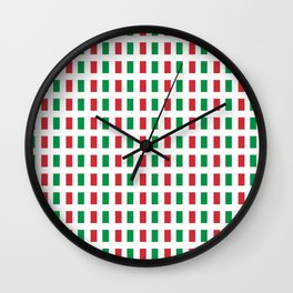 flag of Italia- Italy,Italia,Italian,Latine,Roma,venezia,venice,mediterreanean,Genoa,firenze Wall Clock