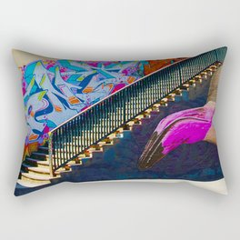 Flamingo Graffiti Rectangular Pillow