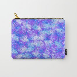 Purple, Blue and White; Fluid Abstract 54 Carry-All Pouch