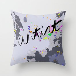 Artist: shades of gray Throw Pillow