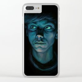 Blue Boy Clear iPhone Case
