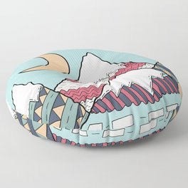 The pattern within the mountains Floor Pillow