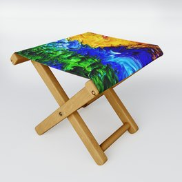 """Gas Flame"" Digital Print Folding Stool"