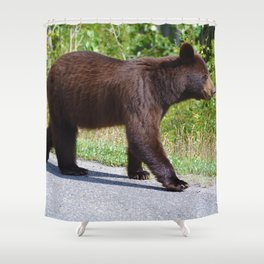 The happiest bear in Jasper National Park Shower Curtain