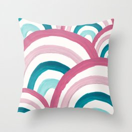 Rainbow Dream Pattern #2 (Kids Collection) #decor #art #society6 Throw Pillow