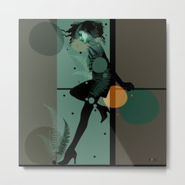 The Girl and the Moon Metal Print