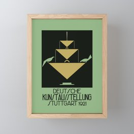 Stuttgart art expo: feed the birds Framed Mini Art Print