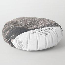 Bismarck - North Dakota - 1883 Floor Pillow