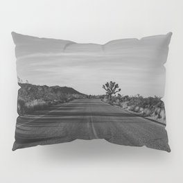 Monochrome Joshua Tree Road Pillow Sham