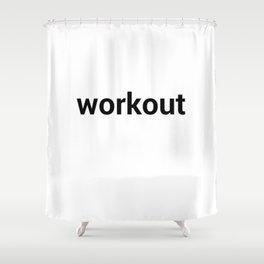 workout Shower Curtain