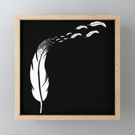 Feather Headdress - Flying Feathers Framed Mini Art Print