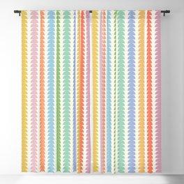 Maude Pattern - Retro Rainbow Blackout Curtain