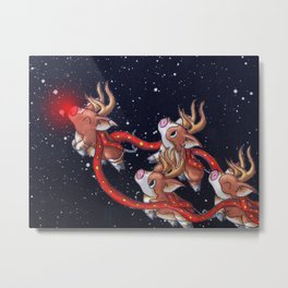 Santa's Backups Metal Print