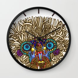 maybe its Rafiki // intricate baboon Wall Clock