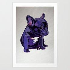 Purple French Bulldog Art Print