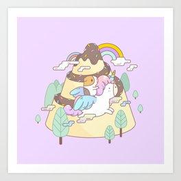 Bubu the Guinea pig, Unicorn Art Print