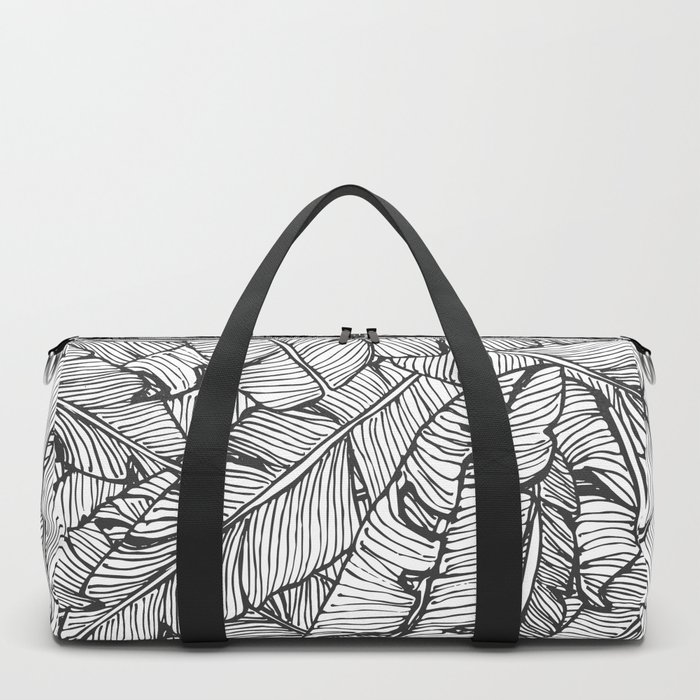 Black & White Jungle #society6 #decor #buyart Duffle Bag