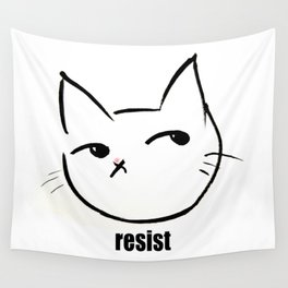 Resist kitty Wall Tapestry