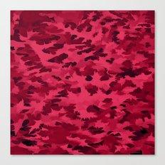 Foliage Abstract Pop Art Blush Red Canvas Print