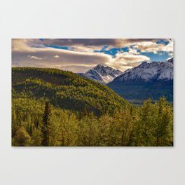Termination Dust - Glenn Highway, Alaska Canvas Print