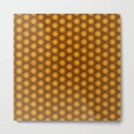 Golden pattern illustration background Metal Print