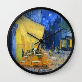 Vincent Van Gogh - Cafe Terrace at Night Wall Clock