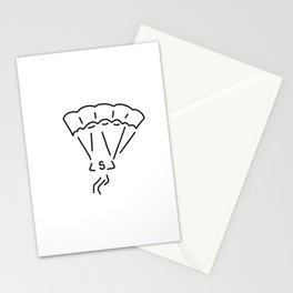 paraglider airman Stationery Cards