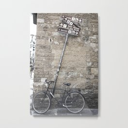 Bicycles Of Tuscany8 Metal Print