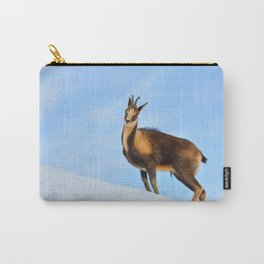 Chamois in the snow Carry-All Pouch
