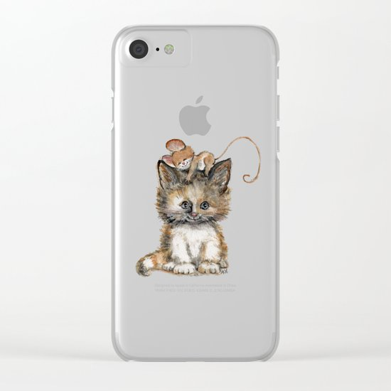 Cat and Mouse Clear iPhone Case