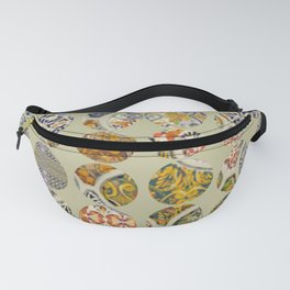Tiles in Cream Fanny Pack