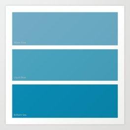 Liquid Blue Art Print