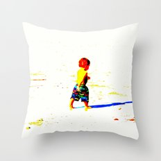 Straight Ahead to a Wonderful World! Throw Pillow