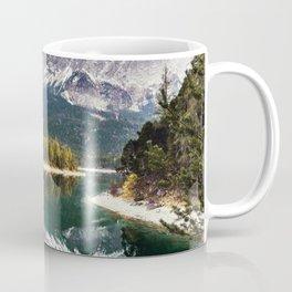 Green Blue Lake, Trees and Mountains Coffee Mug