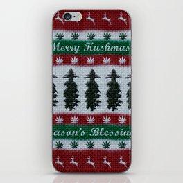 Merry Kushmas! iPhone Skin