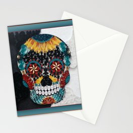 Colorful Sugar Skull Stationery Cards
