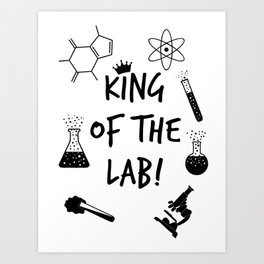 King of The Lab 2 Art Print