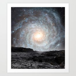 The Milky Way seen from a rogue planet. Art Print