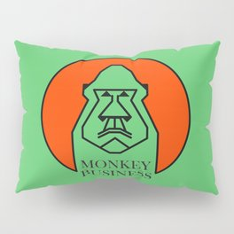 Monkey Business Green Pillow Sham