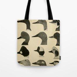Vintage Duck Heads Tote Bag