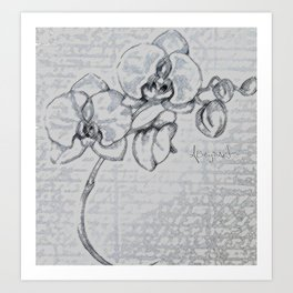 Orchid's Love Art Print