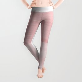 Blush Abstract Minimalism #1 #minimal #ink #decor #art #society6 Leggings