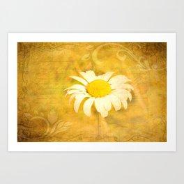 Textured Daisy Art Print