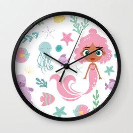 Kritter Mermaid Sea Wall Clock