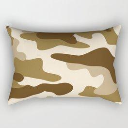 Beige camouflage pattern Rectangular Pillow