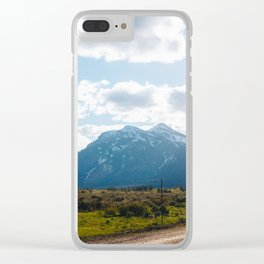 Road to the Mountains Clear iPhone Case