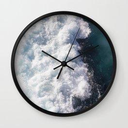 sea - midnight blue wave Wall Clock