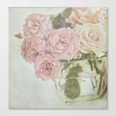 Between roses. Canvas Print